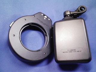 カメラ・レンズ・用品関連 / キャノン マクロリングライトML−3 と デジタルEOS対応改造ホットシューアダプタUNー7433