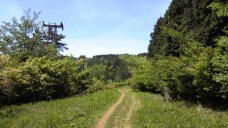 箱根の山、道了尊ー明神ヶ岳ー明星ヶ岳ー塔の峰ー塔之沢、森を抜けるとリフトの鉄塔?