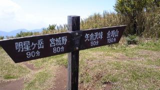 箱根の山、道了尊ー明神ヶ岳ー火打石岳ーうぐいす茶屋ー仙石バス停 その4 頂上の案内