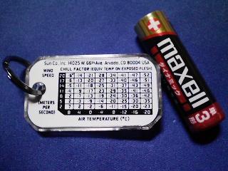 登山用品 ハイマウント輸入 サンのサーモコンポ(リングコンパス付き温度計)