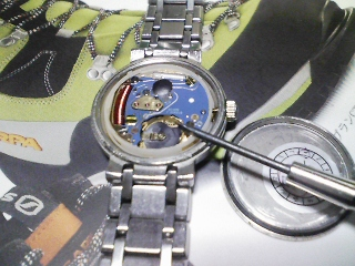 時計の電池の交換(SR621SW)
