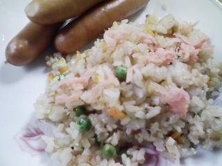 本日のお昼ご飯の写真 和風チャーハン