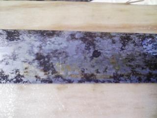 錆び付いた刺身包丁が出てきたので錆を落とした
