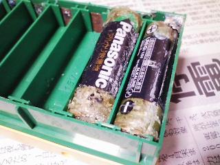 パナソニック液漏れアルカリ乾電池の写真