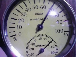 今朝7時ちょっと前の室温32℃、湿度70%
