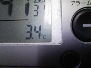 午前8時45分の廊下の室温