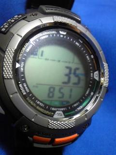 7月12日 朝9時ころの気圧と相対高度