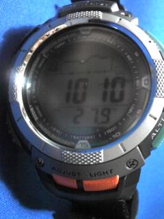 8月10日午前9時過ぎの気圧と相対高度