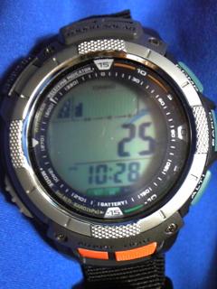 8月12日午前10時半の気圧と相対高度