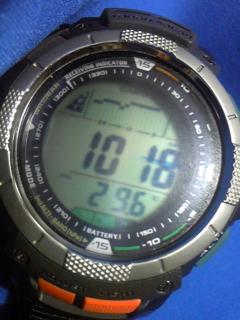 8月18日午前9時過ぎの気圧と相対高度