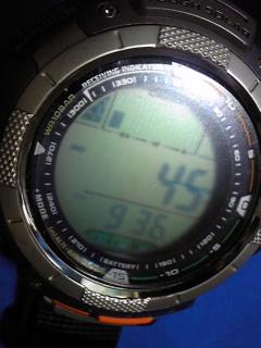8月19日午前10時半の気圧と相対高度
