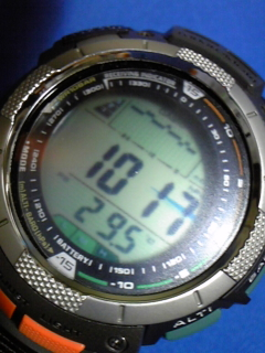 8月20日午前11時半の気圧と相対高度