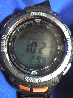 8月24日午前8時半ころの気圧と相対高度