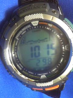8月31日午前10時半の気圧と相対高度