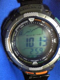 10月2日午前10時半の気圧と相対高度