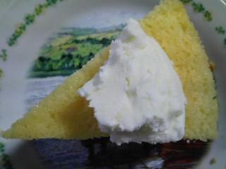 おやつ 自家製イチジクレモンケーキ