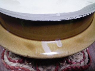 今晩のご飯は、釜飯の釜で炊く