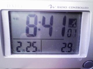 今朝の室温 2.9℃