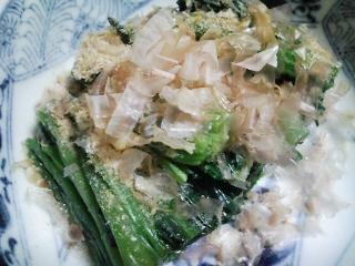 本日の晩ご飯のおかずの写真 神奈川の三浦産サヨリの刺身、青森産ホタテの稚貝の味噌汁など