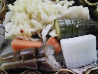 本日のお昼ご飯のおかずの写真 国産黒毛和牛のすき焼き、香の物