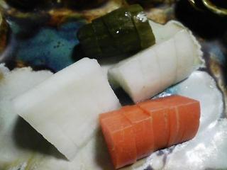 本日の晩ご飯のおかずの写真 神奈川の三崎産青アジの刺身、青アジのなめろうなど
