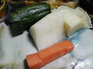 本日の晩ご飯のおかずの写真 豚肉の味噌付け焼き、北海道産ジャガイモ・キタカムイのスープなど