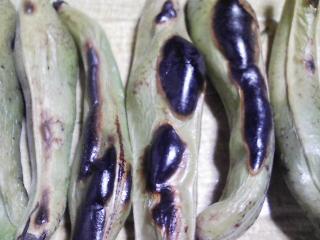 本日の晩ご飯のおかずの写真 神奈川の横須賀産青アジの刺身、なめろう、青アジ出汁の吸い物、金沢の不室屋さんの田楽生麩など