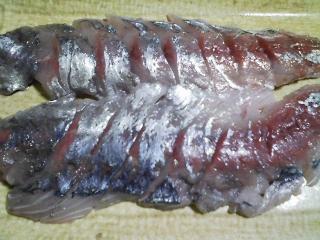 本日の晩ご飯のおかずの写真 神奈川の長井の大アジの刺身、なめろうなど