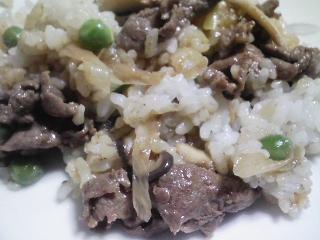 本日の晩ご飯の写真 牛肉のご飯、神奈川の三浦産真アジの塩焼きなど