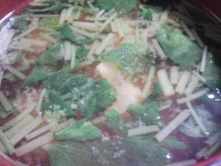 本日の朝ご飯のおかずの写真 千葉産真イワシの煮付け、煮干し出汁の味噌汁など