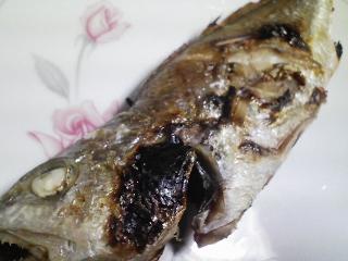 本日の晩ご飯のおかずの写真 愛媛産イシモチの塩焼き、三重産天然ブリのアラの野菜鍋など