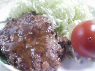 本日のお昼ご飯のおかずの写真 自家製ハンバーグ