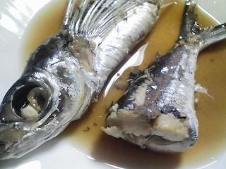 本日の晩ご飯のおかずの写真 神奈川の横須賀産飛び魚の煮付け、サラダなど