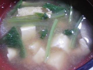 本日の朝ご飯のおかずの写真 イワシレモンスープ、煮干し出汁の味噌汁など