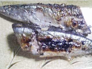 本日の晩ご飯のおかずの写真 北海道産冷凍サンマの塩焼き、サラダなど