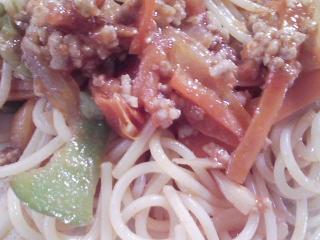 本日のお昼ご飯の写真 スパゲッティ2種