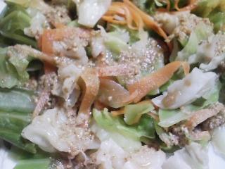 本日の晩ご飯のおかずの写真 奄美大島産生本マグロのカマの刺身、青森産ホタテの稚貝の味噌汁など
