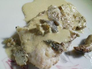 本日の晩ご飯のおかずの写真 栗ご飯、花鯛のソテーなど