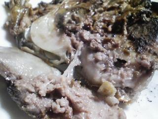 本日の晩ご飯のおかずの写真 奄美大島産養殖本マグロのカマの塩焼き、肉野菜炒めなど