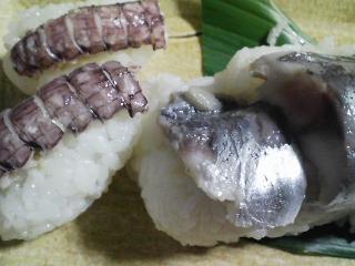 本日の晩ご飯のおかずの写真 神奈川の横須賀産青アジの自家製酢漬け寿司、野菜の煮物など
