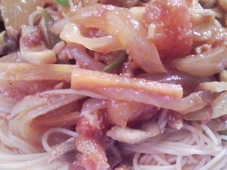 本日のお昼ご飯の写真 スパゲッティ