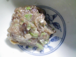 本日の晩ご飯のおかずの写真 静岡産真イワシの刺身、なめろうなど