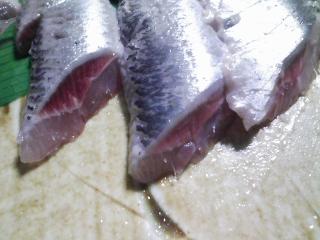 本日の晩ご飯のおかずの写真 青森産真イワシの塩焼き、焼いたネギなど