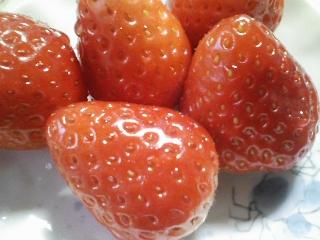 デザート 佐賀産イチゴ さがほのかを食べる