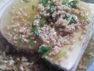 本日の晩ご飯のおかずの写真 長崎産真アジの塩焼き、大根と豆腐のあんかけなど