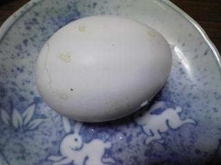 本日のお昼ご飯の写真 磯部焼き、ゆで卵