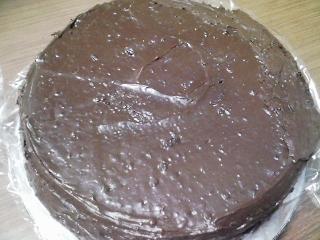 おやつ 自家製ココアケーキ